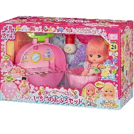Mell chan - short hair doll & strawberry bath set