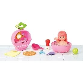 Mell chan - short hair doll & strawberry bath set