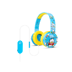 Kids blinking headphones with mic & vol control - ahiru no pekkle