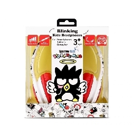 Kids Blinking Headphones with Mic & Vol Control - Bad Badtz-Maru
