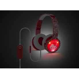 Kids blinking headphones with mic & vol control - hello kitty