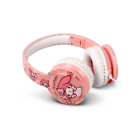 Kids blinking headphones with mic & vol control - my melody