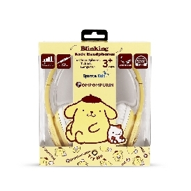 Kids Blinking Headphones with Mic & Vol Control - PomPomPurin