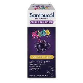 Sambucol black elderberry kids liquid cold & flu relief 120ml