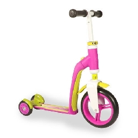 Scoot and ride highwaybaby plus scooter - pink/yellow
