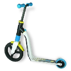 Scoot and ride highwayfreak scooter - white/blue/yellow