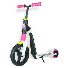 Scoot and ride highwayfreak scooter - white/pink/yellow