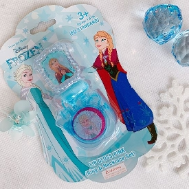 frozen lip gloss pink (ring & necklace set)