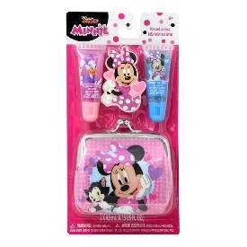 Disney junior minnie lip gloss set+wallet