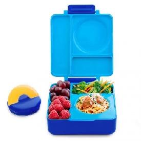 กล่องอาหาร omiebox สีฟ้า