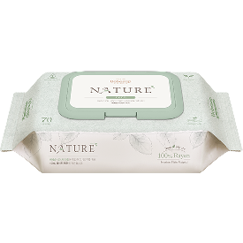 Bebesup wet wipes nature zero 70 cap - biodegradable