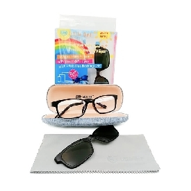 Kids blue lens glasses - black white