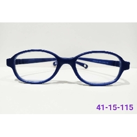 Kids glasses blue block - blue (square frame)