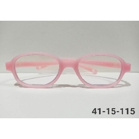 Kids glasses blue block - pink (square frame)