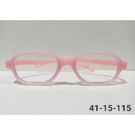 แว่นตากรองแสงสีฟ้าสำหรับเด็กเล็ก - สีชมพู กรอบเหลี่ยม