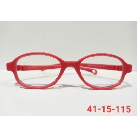 Kids glasses blue block - red (square frame)