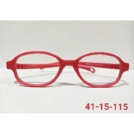 แว่นตากรองแสงสีฟ้าสำหรับเด็กเล็ก - สีแดง กรอบเหลี่ยม
