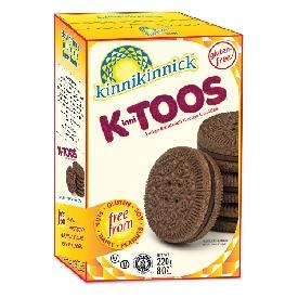 Kinnitoos sandwich crème cookies - fudge  (gluten free)