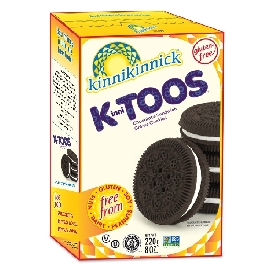 Kinnitoos sandwich crème cookies - chocolate  (gluten free)