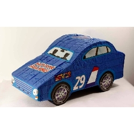 Pinata blue racing car