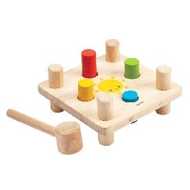 ของเล่นไม้ชุดค้อนตอกสอนสี