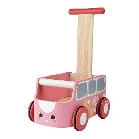 รถตู้หัดเดินสีชมพู