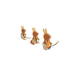 ของเล่นไม้เสริมพัฒนาการ กระต่ายเต้นรำ