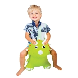 Jumpy triceratops green