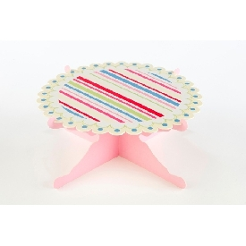 Single layer cake stand floral treat