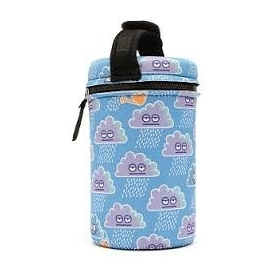 กระปุกใส่อาหารรักษาอุณหภูมิ ลายฝนสีฟ้า