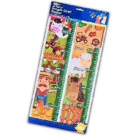 Pop up growth chart sticker - Farm