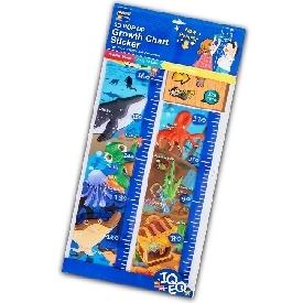 Pop up growth chart sticker - Under the sea