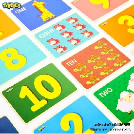 Jumbo flash card – number