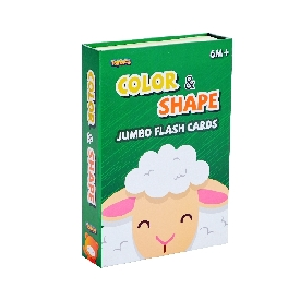 Jumbo flash card – color&shape