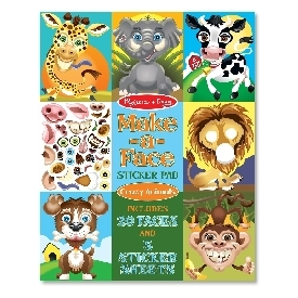Make a face sticker pad - Crazy Animal