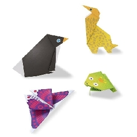 On the go animal origami set