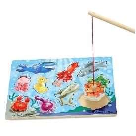 เกมจิ๊กซอว์แม่เหล็กตกปลา