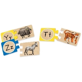 Self-correcting alphabet puzzle