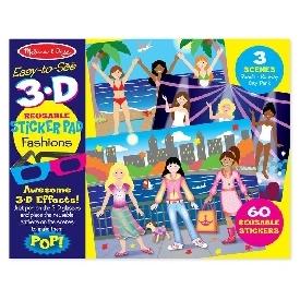 3d reusable sticker pad - fashion