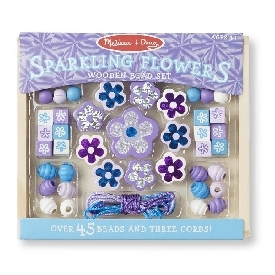 Sparkling flower bead set