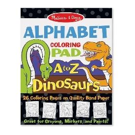 สมุดระบายสี dinoaur alphabet coloring pad