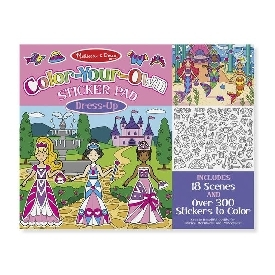 Color-your-own sticker pad - dress-up