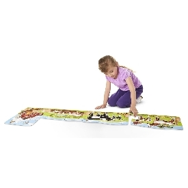 4-in-1 linking floor puzzle - farm