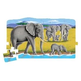 4-in-1 linking floor puzzle -  safari