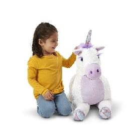 Jumbo misty unicorn stuffed plush animal