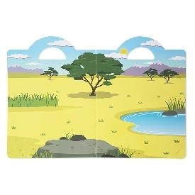 Puffy reusable sticker set - safari