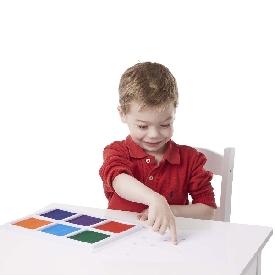 ชุดแท่นหมึก สีปลอดสารพิษสีรุ้ง ส่งเสริมการเล่นแบบมีจินตนาการ