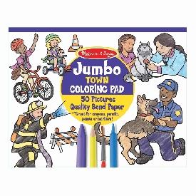 Jumbo coloring pad - town