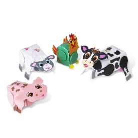 ชุด diy ประดิษฐ์สัตว์ด้วย snap-it - สัตว์ในฟาร์ม