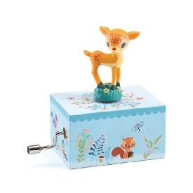 Musical box - fawn in the woods